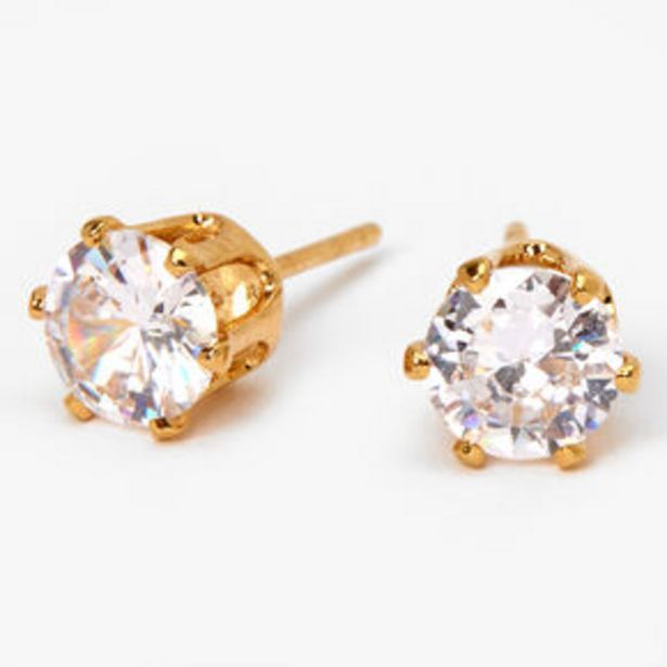 Προσφορά 18ct Gold Plated Cubic Zirconia Cupcake Stud Earrings - 6MM για 7,5€
