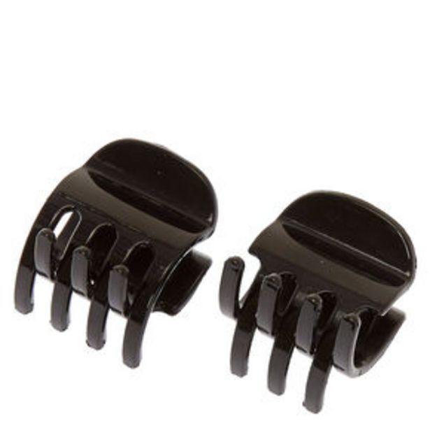 Προσφορά Small Solid Hair Claws - Black, 2 Pack για 2,7€