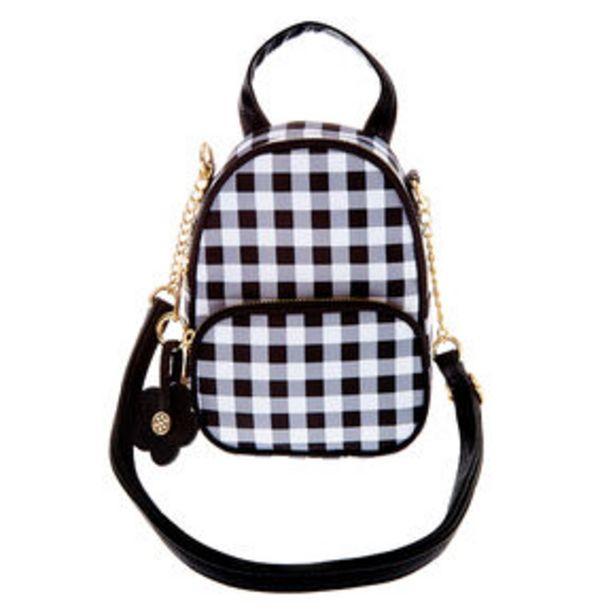 Προσφορά Daisy Gingham Mini Backpack Crossbody Bag - Black για 9,6€