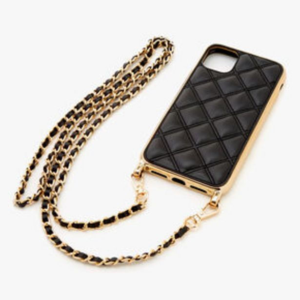 Προσφορά Black Quilted Phone Case with Gold Chain - Fits iPhone® 11 για 9,6€
