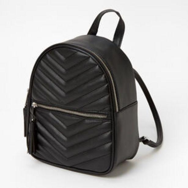 Προσφορά Quilted Small Backpack - Black για 18€