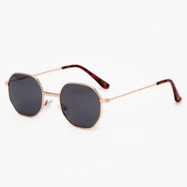 Προσφορά Tortoiseshell Octagonal Sunglasses - Black για 6€