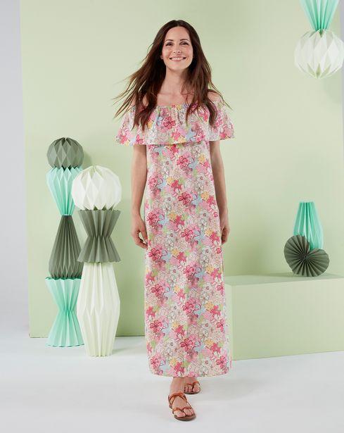 Προσφορά Γυναικείο Φόρεμα Μακρύ με Εμπριμέ Στάμπα για 34,99€