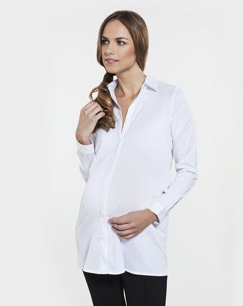 Προσφορά Γυναικείο Πουκάμισο Λευκό για 10,5€