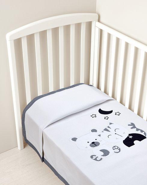 Προσφορά Κουβέρτα για κρεβάτι πικέ για 31,49€